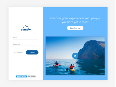 DailyUI - Day #1 video dailyui day1 travel people adventure blue login