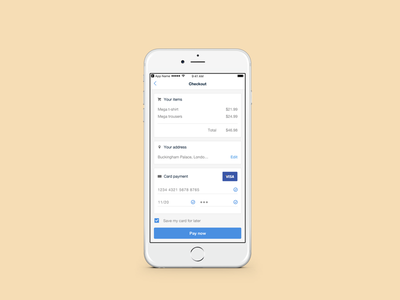 DailyUI - #2 ui day2 dailyui payment checkout