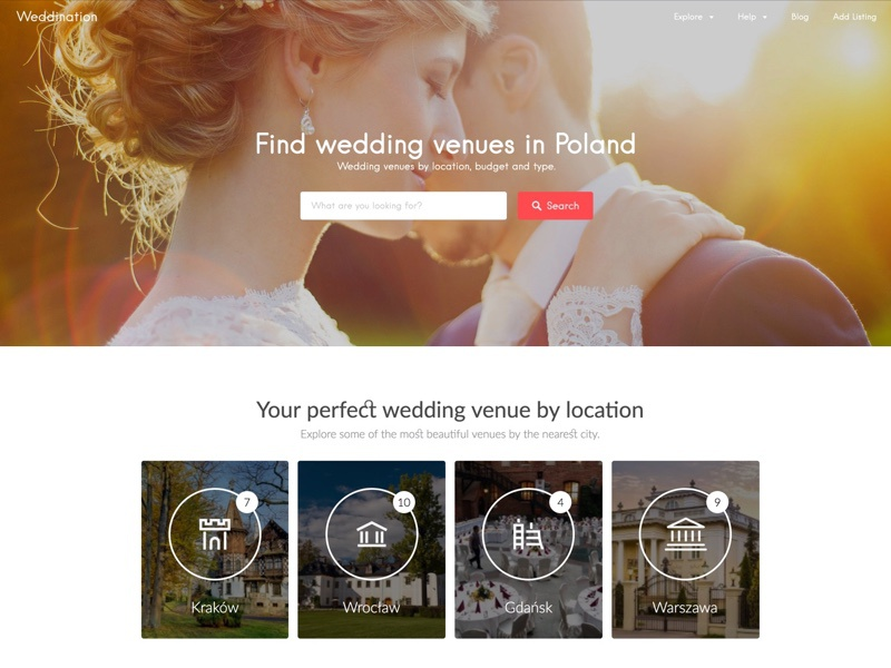 Wedding venue listing - Weddination poland listing venues wedding