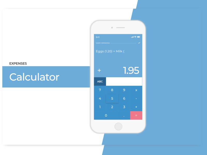 Expenses Calculator shopping calculator app calculator ui ui  ux design count dailyui calculator