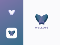 Wellops - App Icon and logo for a wellness business