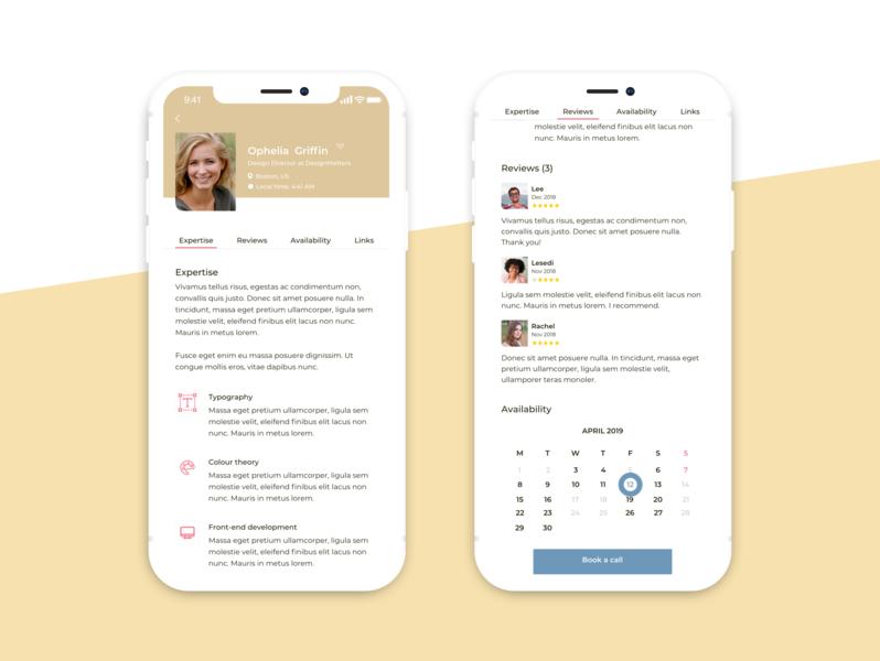 Profile Page profile profile design dailyui ux ui mobile app
