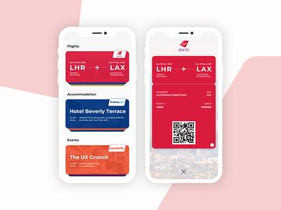 UI24 - Boarding Pass app daily 100 daily 100 challenge dailyui boardingpass boarding