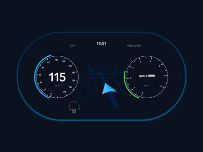 UI34 - In Car Interface map car interface interface uidesign car daily 100 challenge dailyui