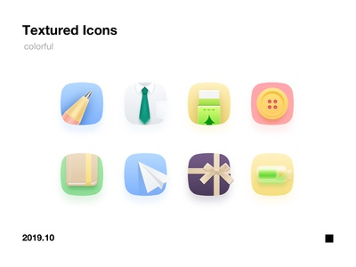 colorful textured icons
