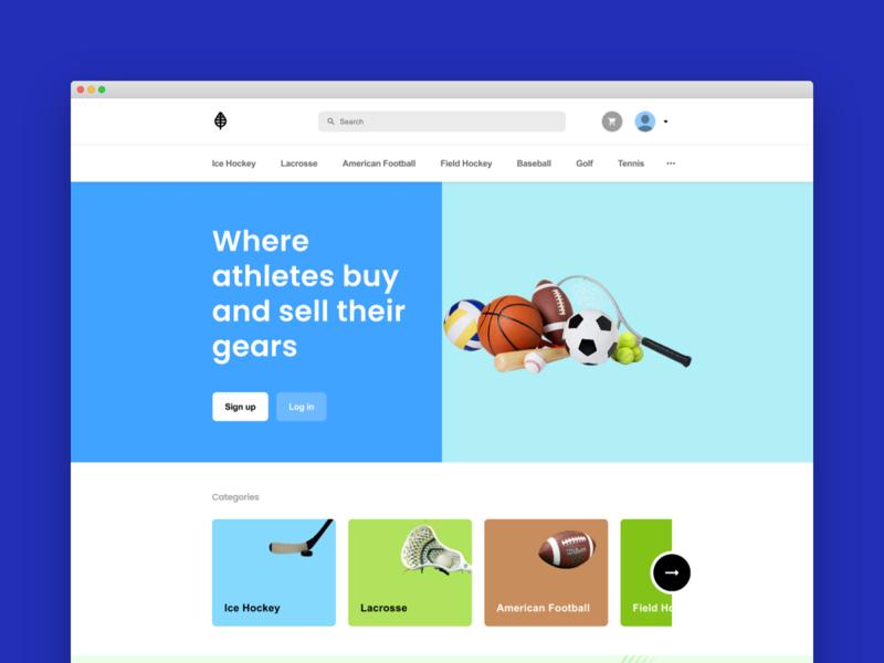 A Marketplace for Sportswear branding creative product website uiux design userexperience userinterface project marketplace