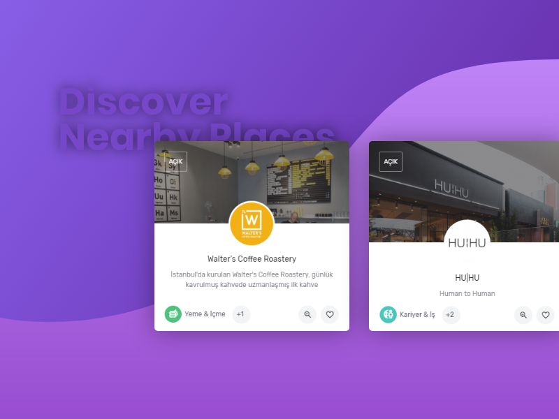 Discover Nearby Places ui uiux userinterface party summer drink food places event website digital