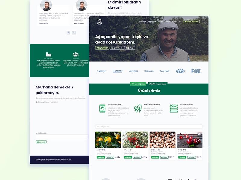 Shot Tarlamvar creative digital userinterface user uiux page design product website agency