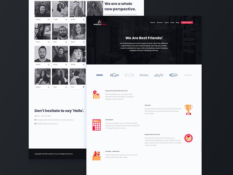 Shot Analyticahouse design creative product agency digital website uiux