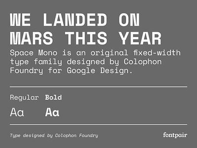 Space Mono - Monospace Google Font space mono spacemono monospaced monospace google fonts google font font pairing font pair font typography typeface googlefonts fonts fontpair