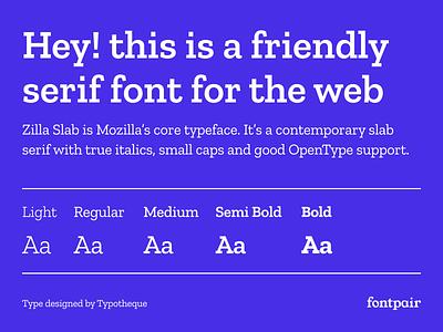 Zilla Slab - Display Google Font typotheque display zillaslab zilla slab google fonts google font font pairing font pair font typography typeface googlefonts fonts fontpair