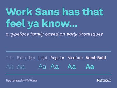 Work Sans - Sans-Serif Google Font worksans work sans sans-serif sansserif sans serif google fonts google font font pairing font pair font typography typeface googlefonts fonts fontpair