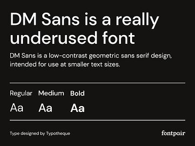 DM Sans - Sans-Serif Google Font sans serif font colophon dm sans sans serif sans-serif font google fonts google font font pairing font pair typography typeface googlefonts fonts fontpair