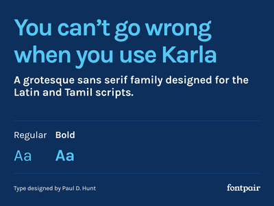 Karla - Sans-Serif Google Font karla font sanserif sansserif sans-serif karla font google fonts google font font pairing font pair typography typeface googlefonts fonts fontpair