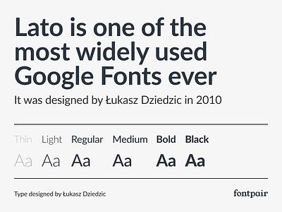 Lato - Sans-Serif Google Font sanserif sans-serif sansserif lato typeface lato font lato font google fonts google font font pairing font pair typography typeface googlefonts fonts fontpair