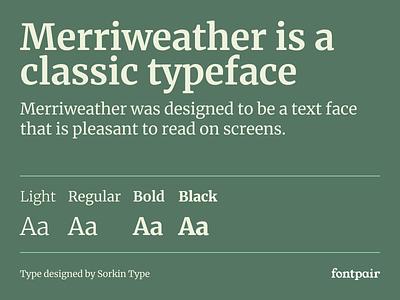 Merriweather - Serif Google Font serif font family merriweather serif fonts serif typeface serif font font google fonts google font font pairing font pair typography typeface googlefonts fonts fontpair