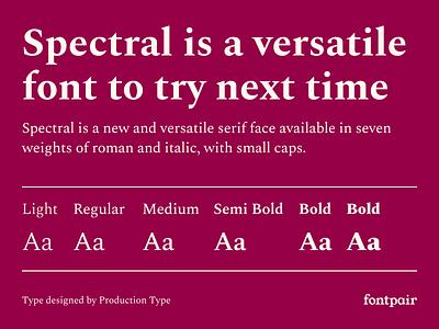 Spectral - Serif Google Font serif google font production type serif font serifs typeface design spectral serif font google fonts google font font pairing font pair typography typeface googlefonts fonts fontpair