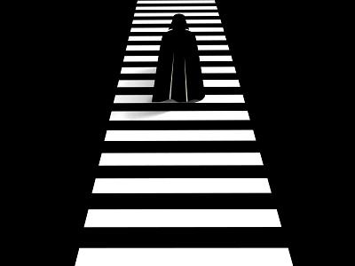 Darth Vader light city silhouette vector star wars darth vader illustration graphic design monochrome
