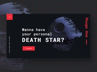 Death Star Landing Page Concept