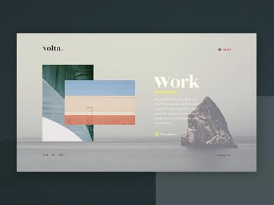 Volta. Page Concept geometry grey design web store architect e-commerce