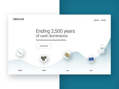 Billing service homepage  service design web