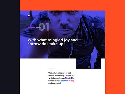Aesthetics. Portfolio Concept minimal theme wp portfolio design web