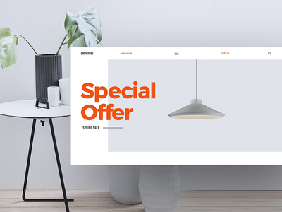 Chuvachi shop store modern commerce ux ui design web