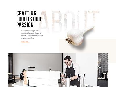 Loren's Cafe modern subtle cafe store food design ux ui web