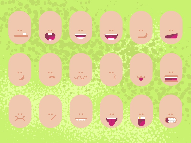 Different kinds of mouths. by ErgaShow on Dribbble