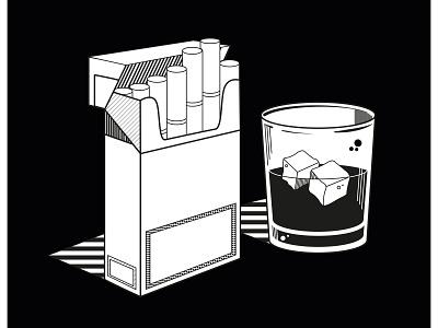 Cigarettes & Whiskey vector ilustrator oldenburg hamburg illustration bremen