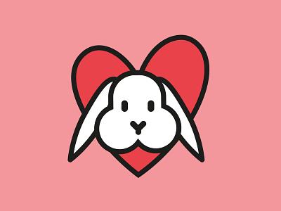 Bunnyflavour.de Logo blog header heart rabbit bunny blog german corporate design logo branding ilustrator oldenburg illustration hamburg bremen