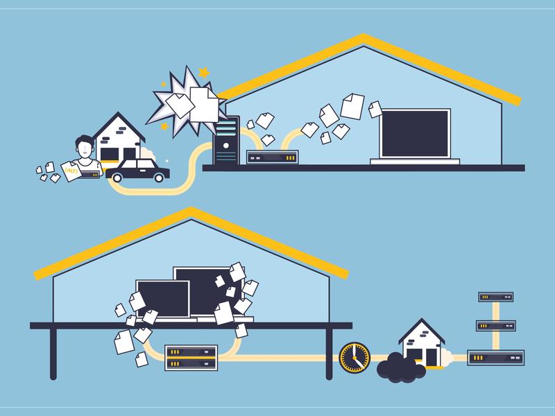IT Service Information Illustration it service german vector ilustrator illustration oldenburg bremen
