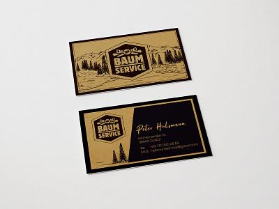 HP Baum Service buisnesscard visitenkarte design logo branding corporate design hamburg oldenburg bremen