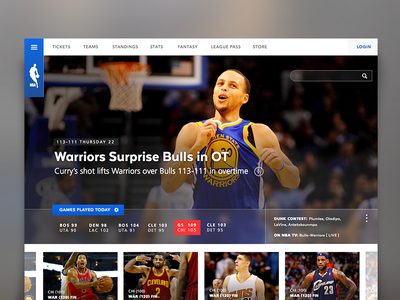 NBA Site Redesign web design nba site redesign ui sketch 3 steph curry splash brothers
