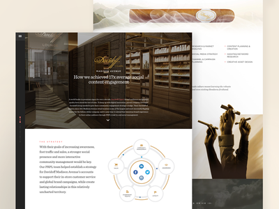 Davidoff Madison Avenue Case Study marketing sketch 3 case study web design ui