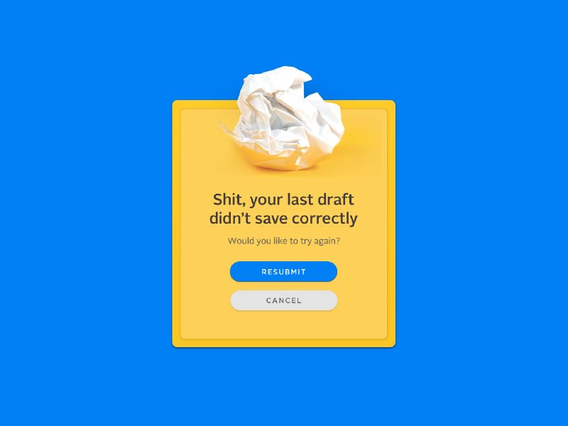 Weak ass draft dailyui writing prompts 011 uidaily help! messages flash message scrap