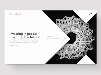 Lux Capital Redesign website ui design venture capital