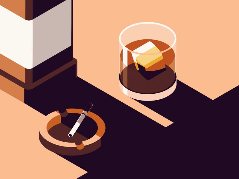coping mechanisms 2017 better be better cigs ginger whiskey illustration