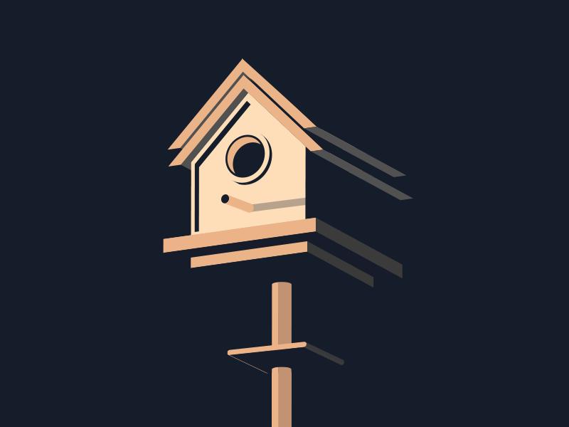 raindrop, treetop 🐦 where the birds at tho illustration migos birdhouse