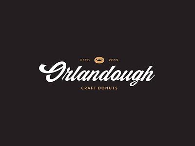 Orlandough Craft Donuts donuts are tight script logo graphic design orlandough orlando branding