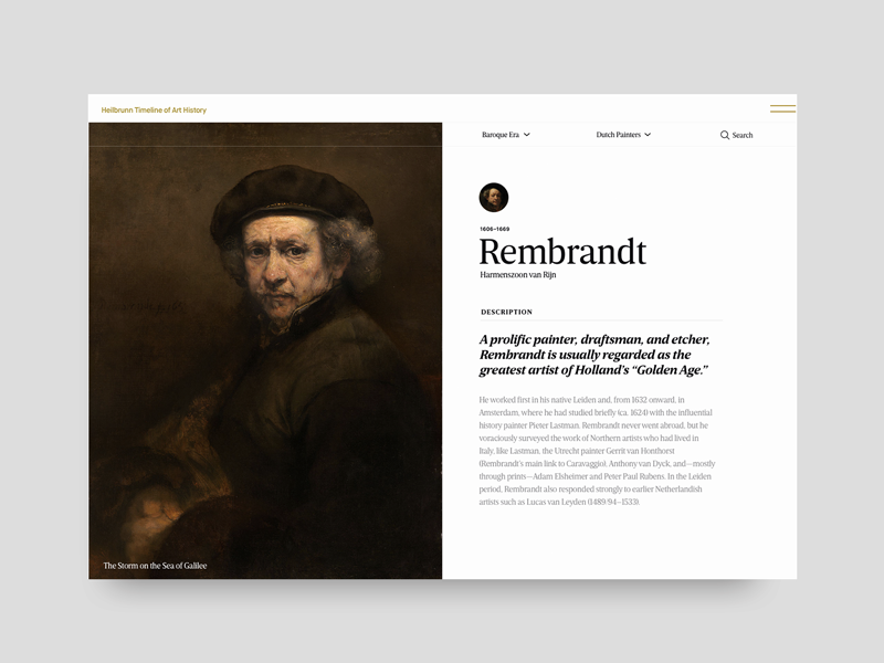 rembrandt artist profile by Christopher Reath on Dribbble