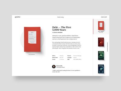 book gallery concept ui harry potter debt books