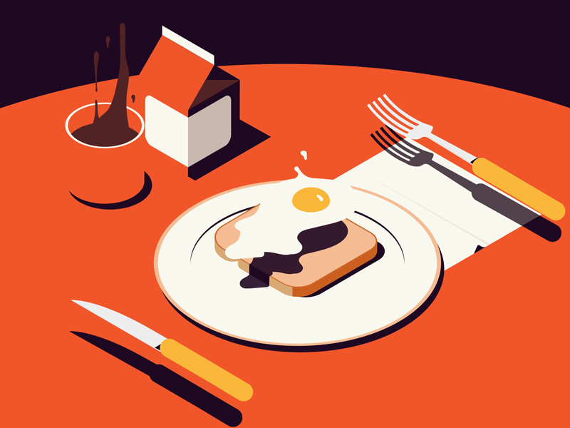 an occultivated breakfast food for thought breakfast isometric does it float