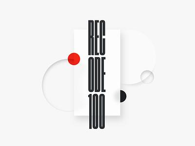 Recode 100 Variation shapes branding recode100