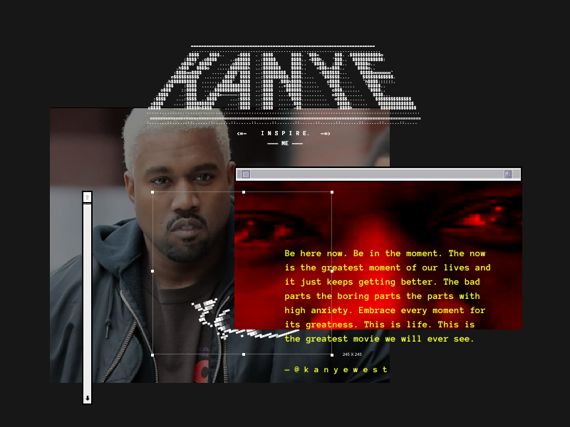 isn't the internet great asciii gif yeezy kanye