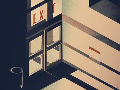 exit left what sarah said illustration brb exit