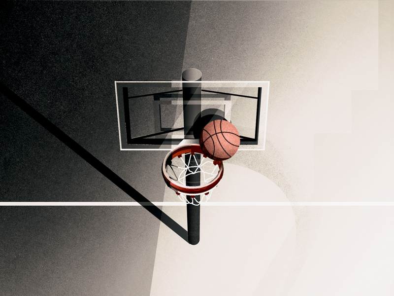 half court shots illustration basketball hoopin