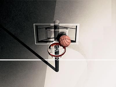 half court shots illustration basketball hoopin