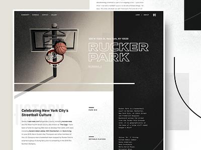 rucker park ui illustration nyc rucker park basketball