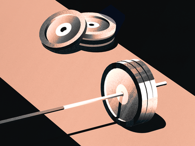 deadlifts illustration weights gym barbell deadlifts